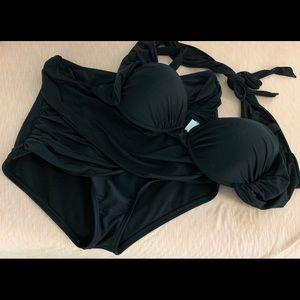 Swimsuits For All Swim - GabiFresh Wrap Bikini - Lime & Black Available